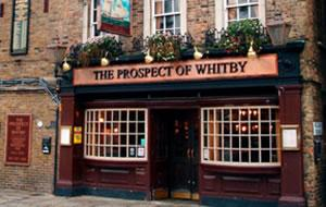 The Prospect of Whitby New Year's Eve Dinner, London E1W