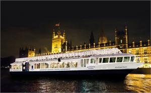 The Harmony, River Thames Dinner Cruise, Embankment Pier - New Year's Eve 2013