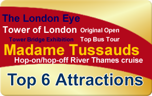 London Gold Bundle - Top 6 Attractions - 1 Great Price
