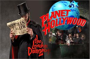 London Dungeon Tickets & Lunch at Planet Hollywood
