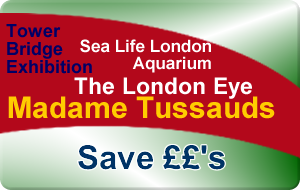 Madame Tussauds - EDF Energy London Eye - London Aquarium - Tower Bridge