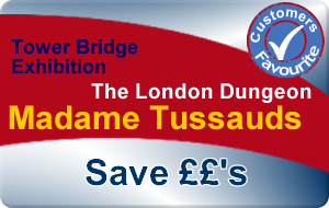 Madame Tussauds, London Dungeon & Tower Bridge