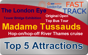 London Silver Bundle - Top 5 Attractions (Fast Track London Eye) - 1 Great Price