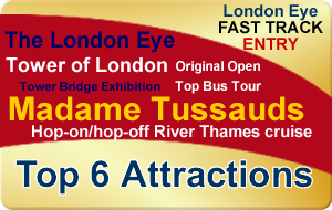 London Gold Bundle - Top 6 Attractions (Fast Track London Eye)