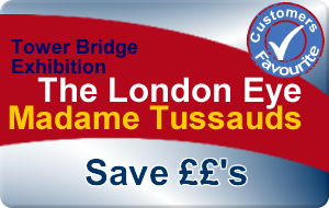 Madame Tussauds, EDF Energy London Eye & Tower Bridge