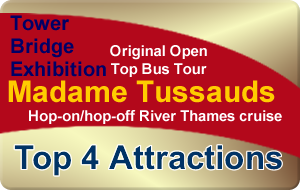 Save 42% London Bronze Bundle - Top 4 Attractions - 1 Great Price