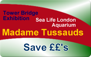 London Aquarium - Madame Tussauds - Tower Bridge