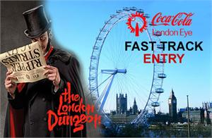 London Dungeon, Fast Track Coca Cola London Eye & Tower Bridge Exhibition