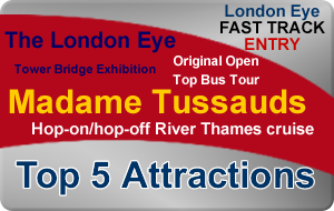 Save 33% London Silver Bundle - Top 5 Attractions (Fast Track London Eye)