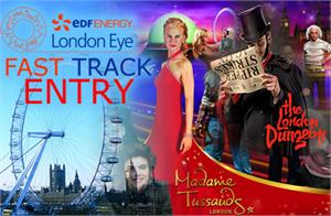 Madame Tussauds, London Dungeon, Fast Track Coca Cola London Eye & Tower Bridge