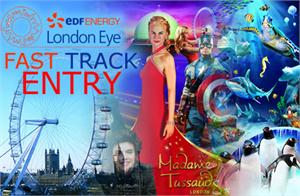 Madame Tussauds - Fast Track Coca Cola London Eye - London Aquarium - Tower Bridge