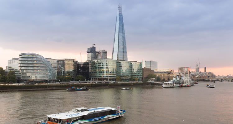 The Shard & City Cruises River Red Rover